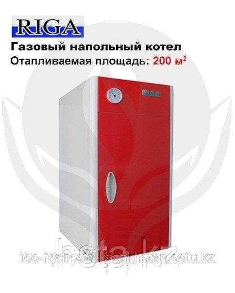Газовый, жидкотопливный, одноконтурный, напольный, водогрейный, отопительный, стальной котел Riga КСГ 20