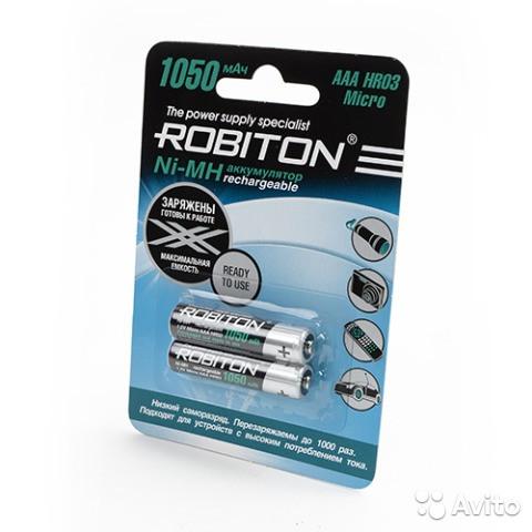 Robiton AAA 1050mAh низкий саморазряд RTU1050MH-2