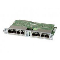 Eight port 10/100/1000 Ethernet switch interface card w/ PoE