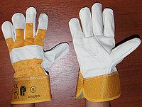 Перчатки рабочие кожа комбинированный,Строительные, рабочие перчатки, рукавицы оптом в Алматы
