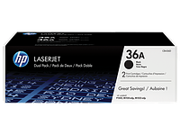 HP CB436AF Dual Pack Black Print Cartridge for LaserJet P1505/M1120/n/M1522, up to 2000 pages
