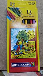 Набор цветных карандашей для рисования 12 шт