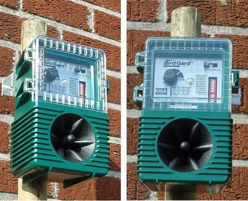 "Отпугиватель птиц ""Weitech WK0033 AntiBird Pro"": установка на древке"