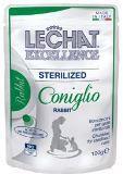 LeChat Fresh Excellence консервы для стерилизованных кошек кусочки с кроликом, пауч 100г