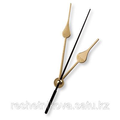 Стрелки для часовых механизмов(часовая/минутная/секундная) черный/золото