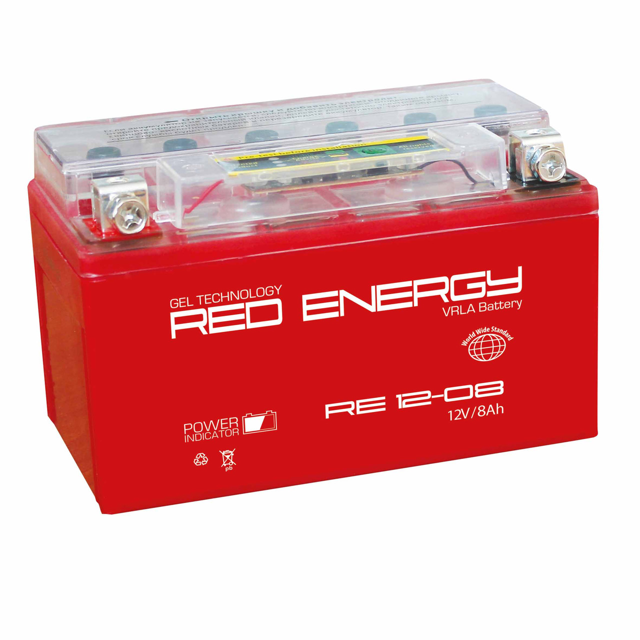 "АККУМУЛЯТОР RED ENERGY RE 12-08 (150Х66Х95) - ИП СЕМЁНОВ В.Н. - ИНТЕРНЕТ МАГАЗИН ""МотоСтиль+""  в Жезказгане"