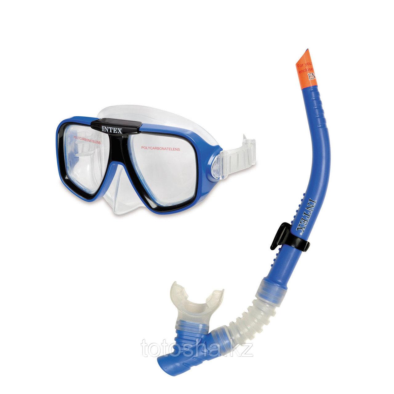 55948 Intex набор для плавания (маска + трубка)