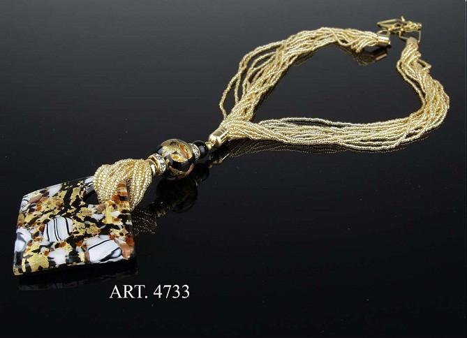Ожерелье Rhombus, муранское стекло, ручная работа, Италия