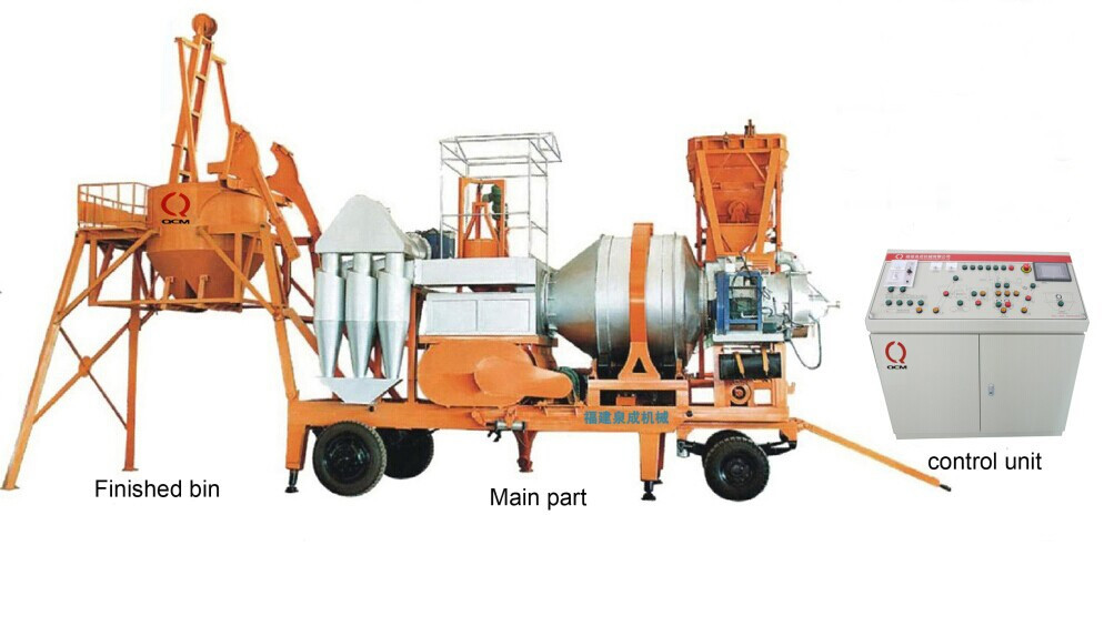 Мобильный асфальтный завод QCQ-40 из Китая 40 тонн/час