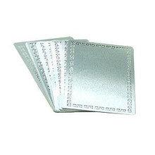 Метал. заготовки (золото/серебро/с узором) для визитки 54x86 под сублимацию
