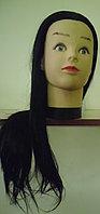 Учебная голова болванка учебная манекен, искусственные волосы, фото 1