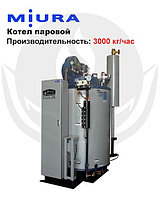 Котел паровой, водогрейный, газовый, одноконтурный, стальной MIURA EZ-3000G, фото 1