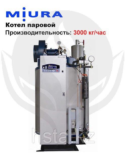 Котел паровой, водогрейный, газовый, одноконтурный, стальной MIURA EZ-3000K