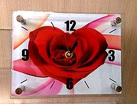 """Часы настольные """"Сердце"""", стеклянные"""