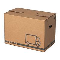 Коробка упаковочная ЭТЭНЕ 2 шт. коричневый ИКЕА, IKEA , фото 1