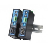 ICF-1150-S-ST-T Industrial RS-232/422/485 to Fiber Optic Conve