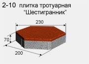 Брусчатка в Атырау (шестигранник)