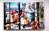 """Детские часы-картина настенные """"Микки Маус и Минни"""",стекло"""