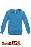 Детская светло-синяя толстовка-свитшот, фото 1