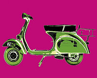 Постер, картина, артпринт 04517, 40x50 cm, Motoring Picture Library — Vespa in Pink