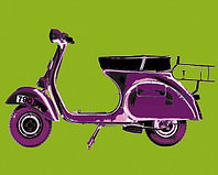 Постер, картина, артпринт 04519, 40x50 cm, Motoring Picture Library — Vespa on Green