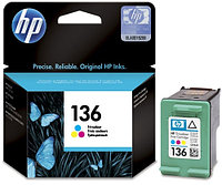 Картридж HP C9361HE Tri-color Inkjet Print Cartridge №136 for PhotoSmart 2573/C4183/1513/C3183/6313/138/132, 5 ml, up to 220 pages. ;