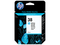 Картридж HP C9418A Light Cyan Pigment Ink Cartridge Vivera №38 for Photosmart Pro B9180/B9180gp, 27 ml, up to 1080 pages. .;