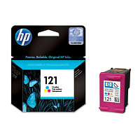 Картридж HP CC643HE Tri-Colour Ink Cartridge №121 for Deskjet F4283/D2563/D1663, 4 ml, up to 165 pages. ;