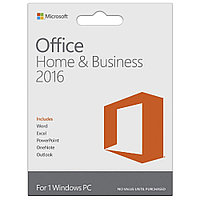 Microsoft Office Home and Business 2016, 1ПК, 32-bit/x64, Russian Kazakhstan Only, DVD,BOX