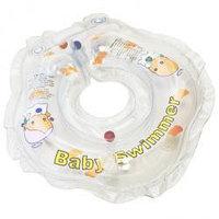 Круг на шею для купания младенцев +внутри погремушка