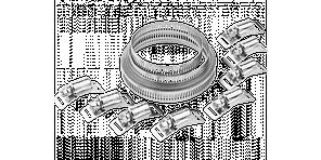 """Набор ЗУБР """"ЭКСПЕРТ"""": Хомут универсальный, нержавеющий, 3мх12,7мм, 8 замков 12.7 мм"""