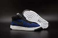 Кроссовки Nike Air Force 1 Mid Flyknit 2016 Blue (36-44), фото 1