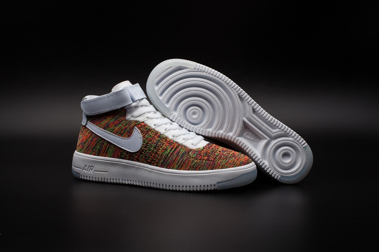 Кроссовки Nike Air Force 1 Mid Flyknit 2016 Multicolor (36-44)