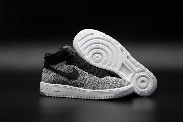 Кроссовки Nike Air Force 1 Mid Flyknit 2016 gray (40-44)