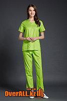 Салатовый женский медицинский костюм, фото 1