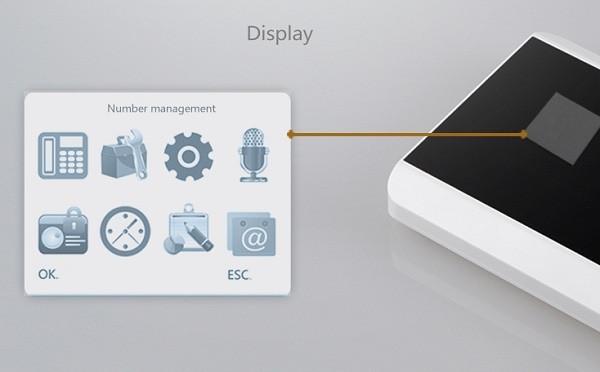 Встроенный дисплей и понятный интерфейс упрощает настройку системы