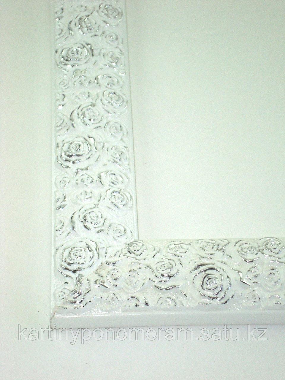"""Рама из багета для картины """"Белые розы"""" 40х50 см"""