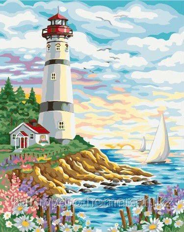"""Картины по номерам (цифрам)  """"Цветущие берега"""""""