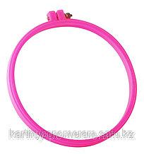 Пяльцы пластиковые, диаметр 18 cм, цвет: розовый