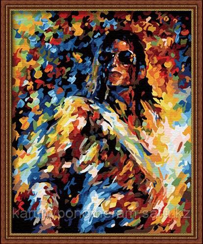 """Картина по номерам - """"Майкл Джексон. Л.Афремов"""""""
