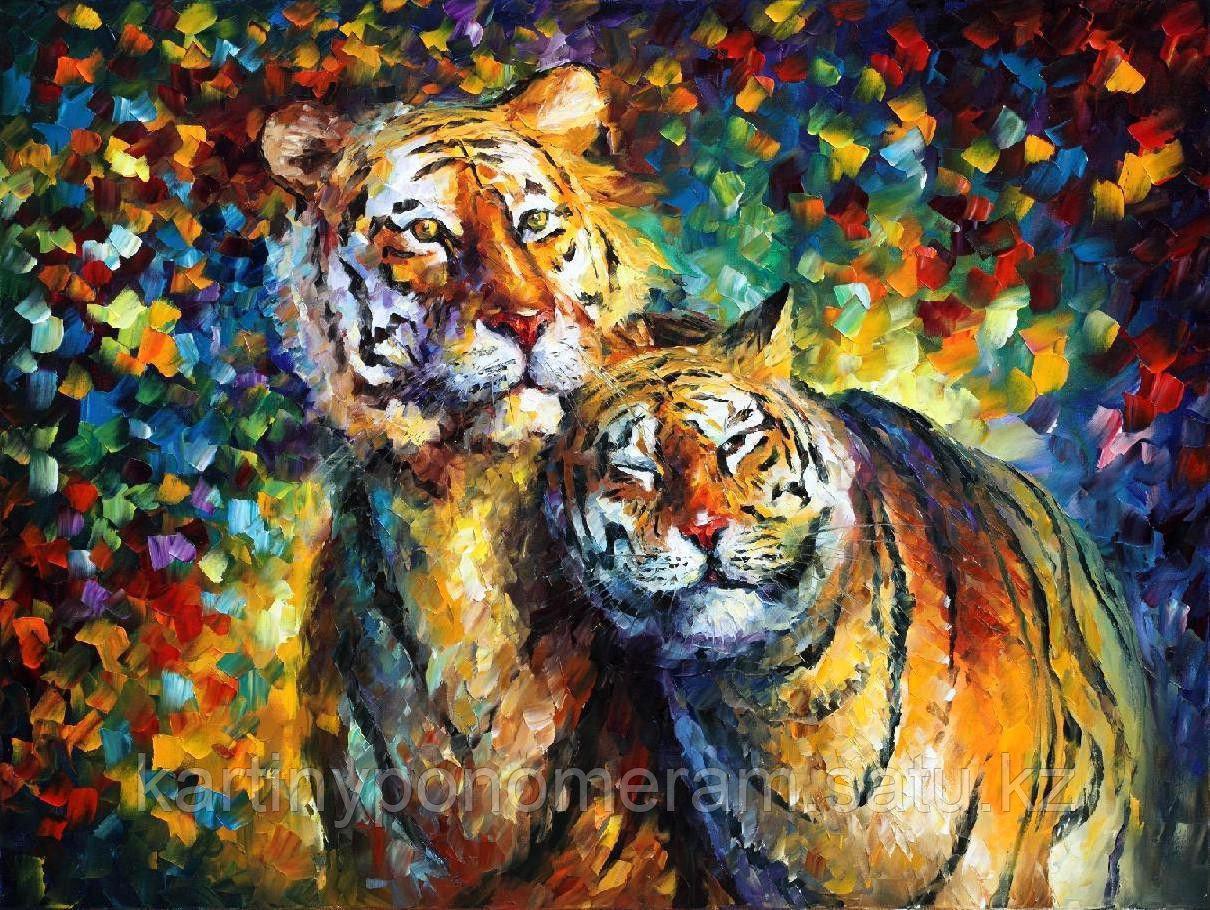 """Картина по номерам """"Влюбленные тигры. Л.Афремов"""""""