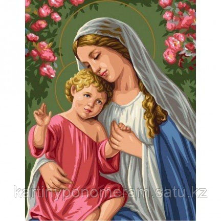 "Картина по номерам ""Мария и младенец"""