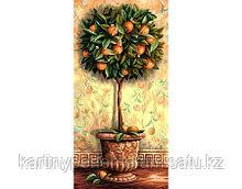 """Картина по номерам """"Апельсиновое дерево 40х80см"""""""