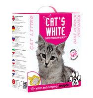 Наполнитель кошачьих туалетов Cat's White babypowder