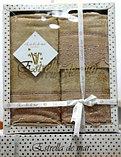 Подарок для женщины - набор бамбуковых полотенец с кружевом, фото 4
