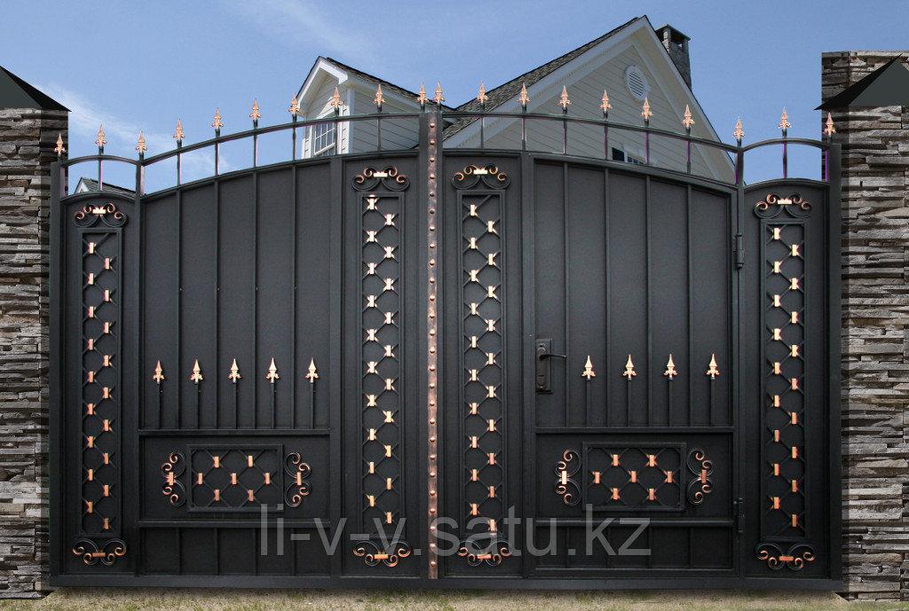 Металлические ворота в Алматы
