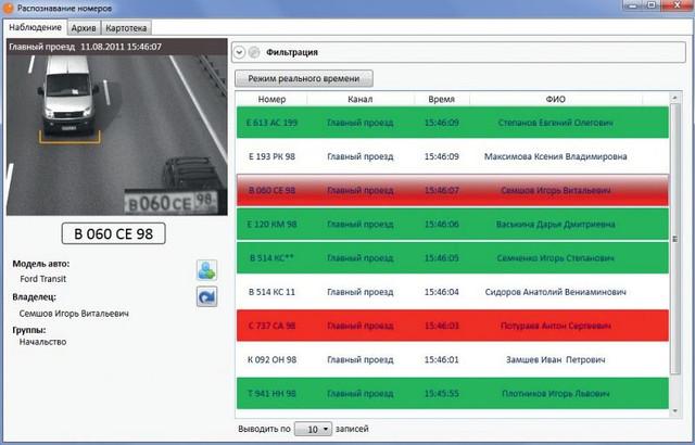 Модуль распознавания автомобильных номеров Macroscop Light. Версия для парковок.