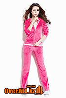 Велюровый костюм цвета фуксии, фото 1