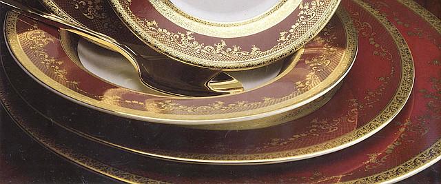 Цептер Фарфор Роял Голд Бордо дополнение к столовому сервизу