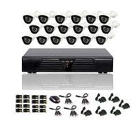AHD готовый комплект видеонаблюдения из 16 уличных камер